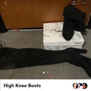High knee black boots sz 38